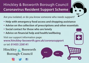 Hinckley & Bosworth Borough - Coronavirus Resident Support Scheme Launched