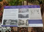 Image: Heritage information panel in the Memorial Garden about Market Bosworth in the Second World War